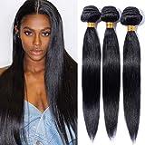 Extension Capelli Naturali Tessitura Unprocessed 1 bundle 100g Estensioni per Capelli Veri Lisci Matassa Virgin Human Hair Straight Nero Naturale 1B#