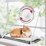 ZALALOVA Cat Window Perch, Cat Hammock Window Seat w/Free Fleece Blanket 2020 Latest Screw Suction Cups Extra Large…