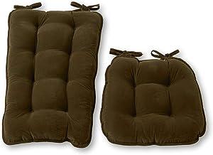 Greendale Home Fashions Cherokee 2-Piece Jumbo Rocking Chair Cushion Set, Juniper