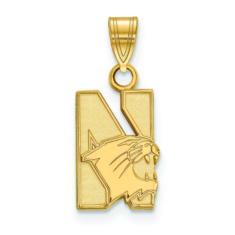 Northwestern Small (1 / 2インチ) ペンダント(10 Kイエローゴールド)   B01JAP24IG