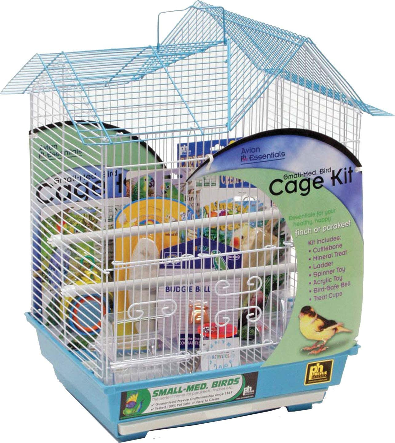 Prevue Hendryx Double Roof Parakeet Bird Starter Kit