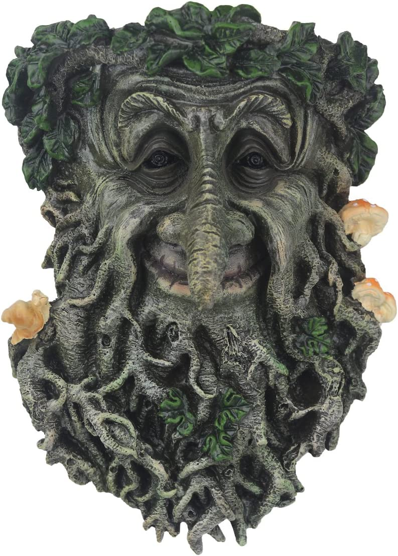 Garden Decoration Tree Faces Decor Outdoor Green Man Head Planter Yard Art for Gnomes Gifts for Gardeners Men
