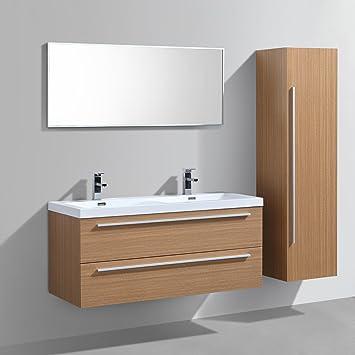 Lestockdesign Meuble Salle De Bains Double Vasque 120 Cm Colonne