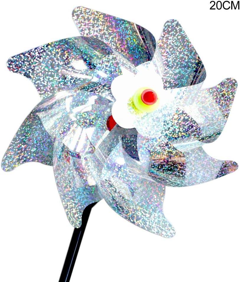 Sparkly Holographic Reflection Pinwheels for Garden Bird Repellenting Fairylove 8PCS Bird Repellent Pinwheels