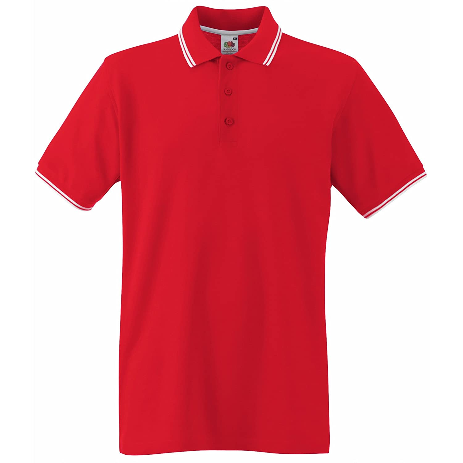 Fruit Of The Loom Mens Tipped Short Sleeve Polo Shirt At Amazon