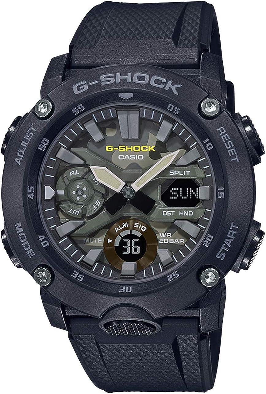 Casio G-Shock Men's GA2000SU-1A Analog-Digital Watch Black