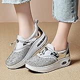 YiYLunneo Women High Heeld Wedge Sneakers Ladies