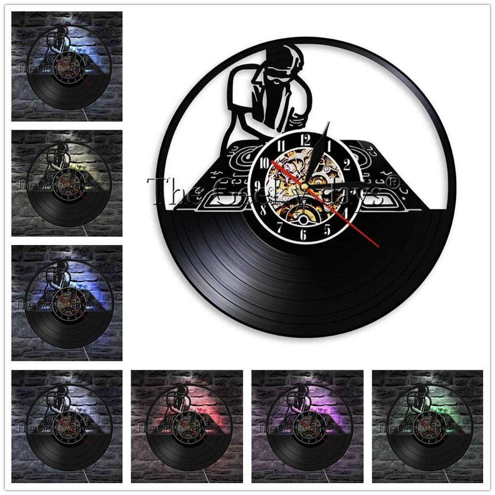 TPYFEI DJ Tocadiscos Tocadiscos Vinilo Reloj de Pared Club ...