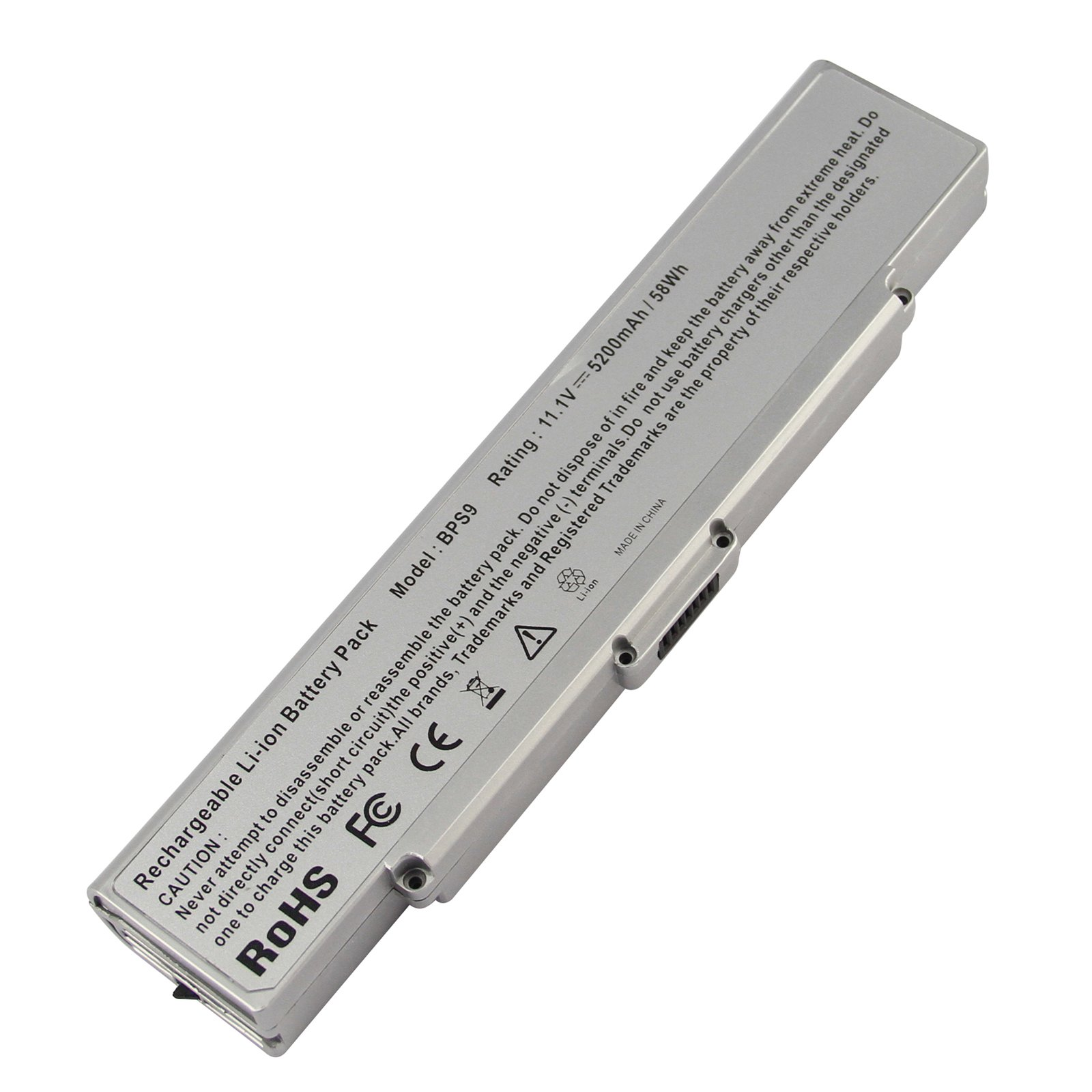Bateria Para Sony Vaio Vgn-ar Vgn-cr Vgn-nr Vgp-bps9/b Vgp-bps9/s Silver