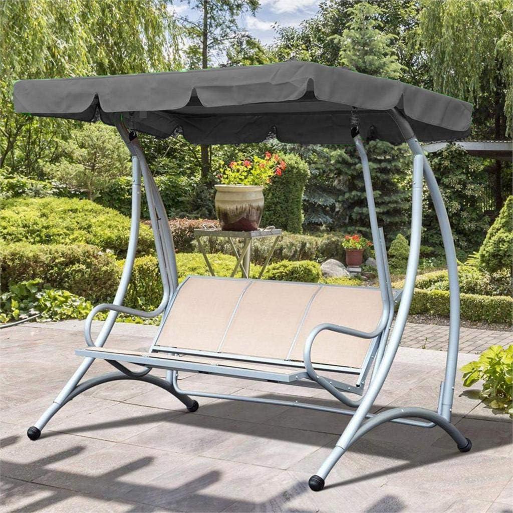 PEPAXON Sonnendach f/ür Hollywoodschaukel Ersatzdach Gartenschaukel Wasserdichter 3-Sitzbezug 190T Polyester f/ür Patio Yard Seat 164 x 114cm