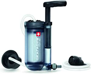 Katadyn Hiker Pro Transparent Water Filter, Lightweight, Compact Design for Personal or Small Group Camping, Backpacking or Emergency Preparedness
