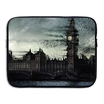24fa6900c7f9 Amazon.com: Fonsisi Laptop Storage Bag Big Ben Clock Illustration ...