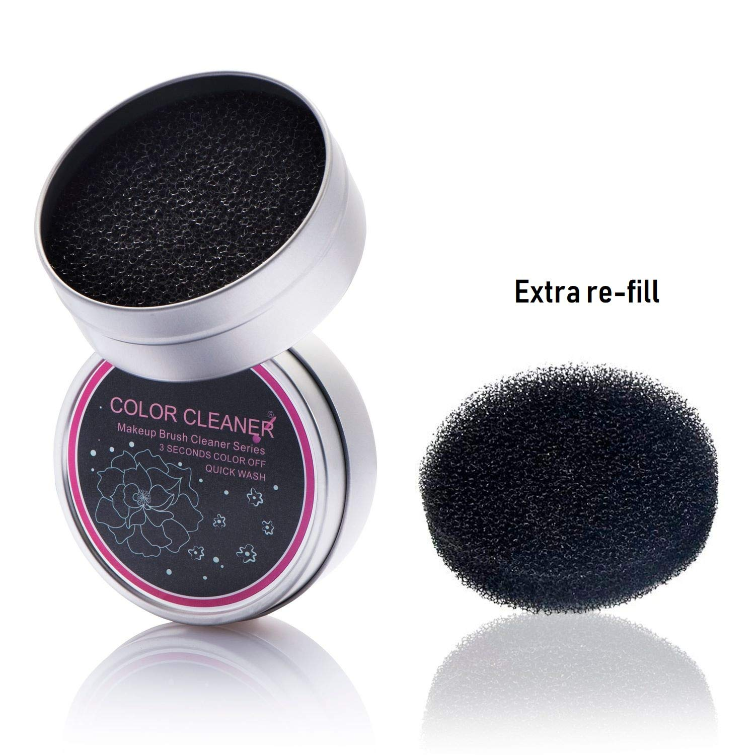 Zodaca Brush Color Removal Sponge, Clean Makeup Brushes Easily/Swiftly Switch To Next Color/Remove Shadow Color from Makeup Brushes