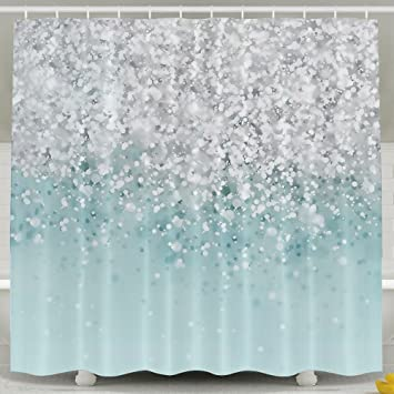 Girly Sparkling Mermaid Fashion Printing Home Life Shower Curtain Opaque Shelter Waterproof Bath Size Flexible