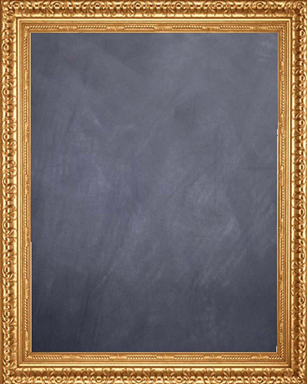 Framed Chalkboard 24'' x 36'' - with Antique Gold Finish Frame