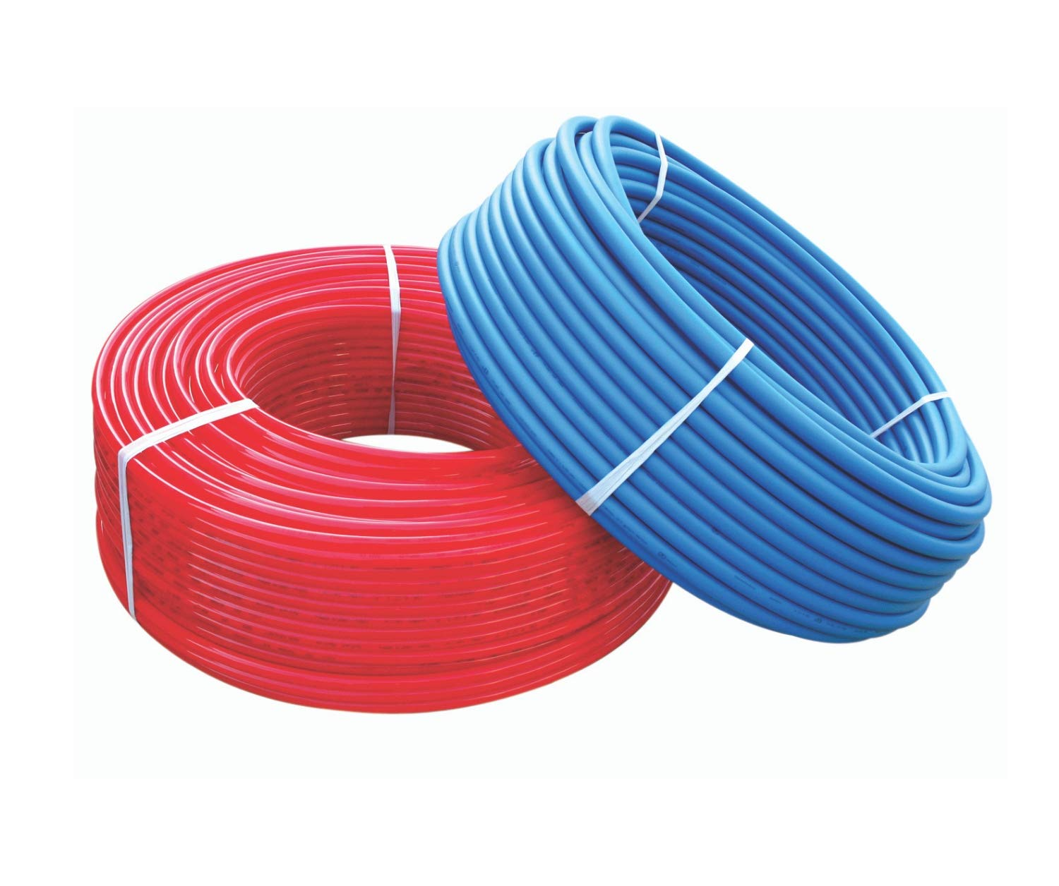 PEX Tubing B Pipe 1/2'' 300 Feet Red 300' Blue Water Polyethylene Flexible Pipes Non Oxygen Barrier Potable Tubes Hot Cold PEX-B Expandable Plastic 1/2 Inch Crimp Hose by CMI Inc