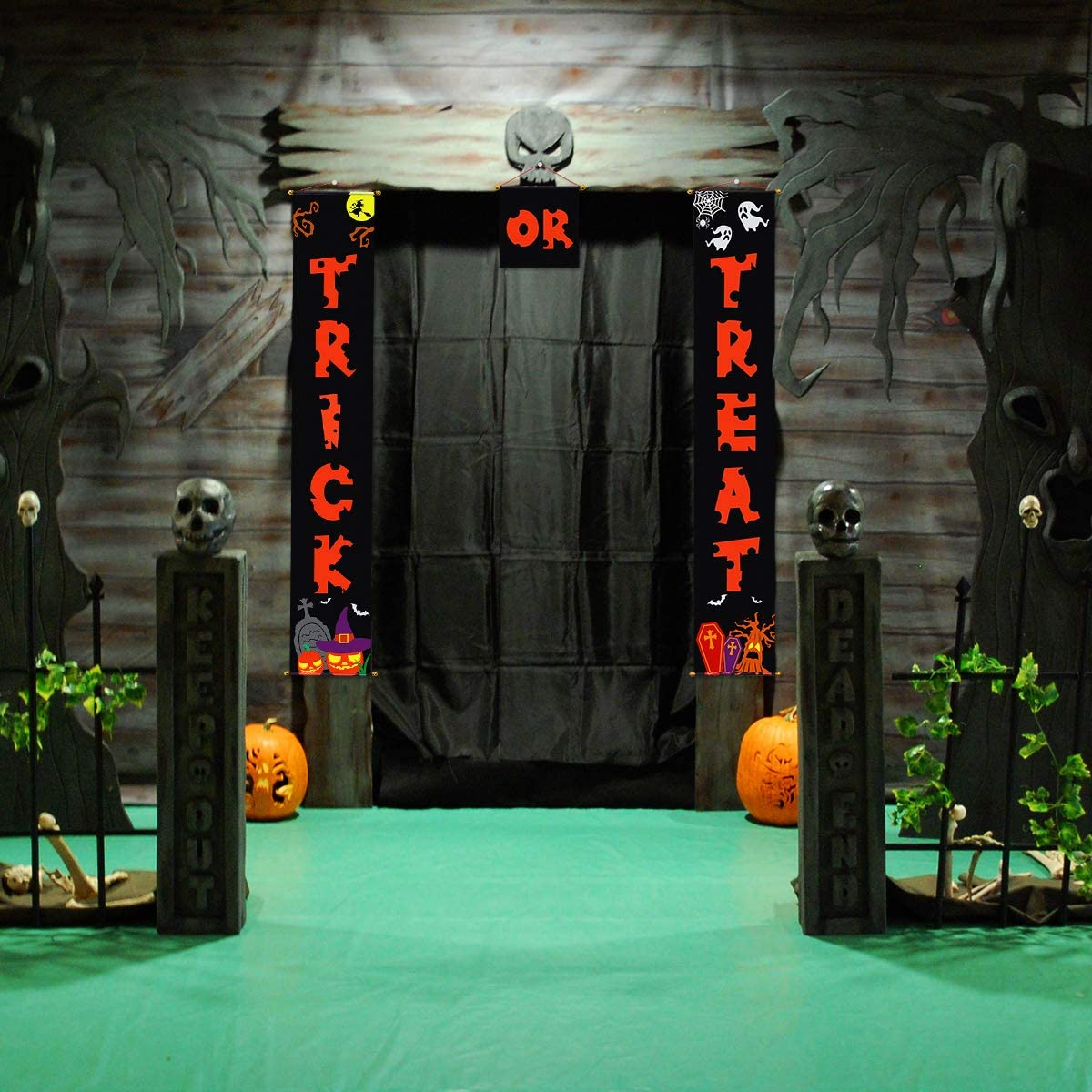 Halloween Decorations Door Banners for Trick or Treat Banner For Home Office Door Decal 3pcs
