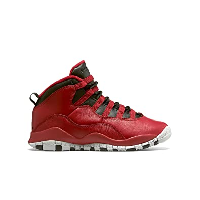 e1f4131f2669de Nike Boys Air Jordan 10 Retro 30th BG Bulls Over Broadway Gym Red-Black-