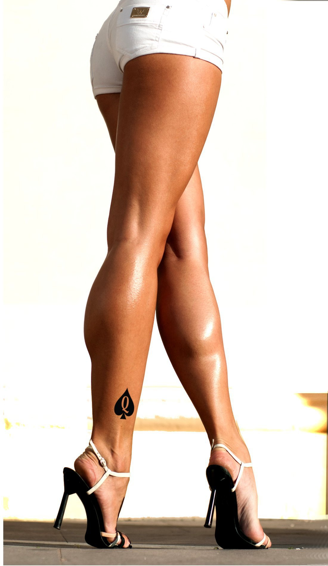 15 X Thick Queen of Spades Temporary Tattoos - Hotwife