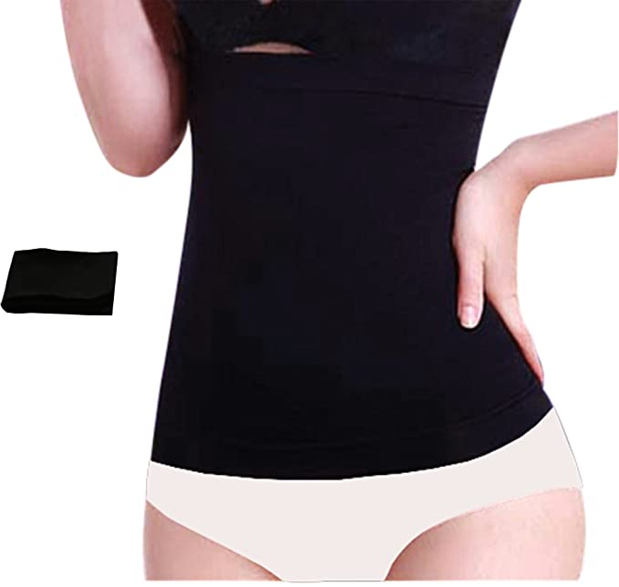 1ef32a0af8 Chabame Seamless Bamboo Corset Liners - 1 Pack - Undergarment Waist Liner  Black