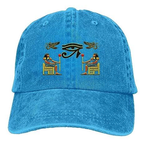 ONGH Gorro de Mezclilla Egipcio Ibis Ankh Horus Eye Ajustable ...