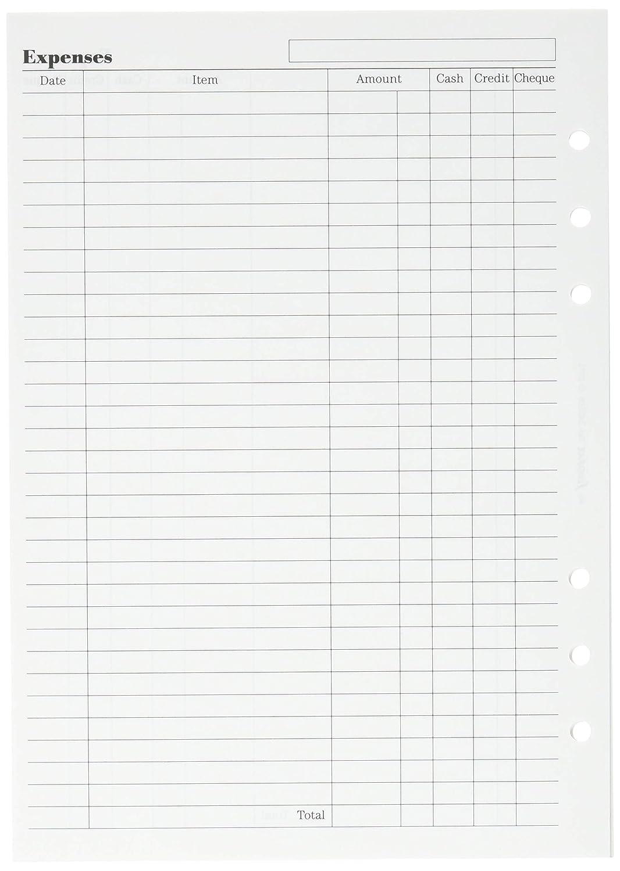 Filofax 342210 - Recambio de agenda (50 hojas, A5), color ...