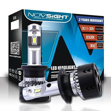 NOVSIGHT 2X H7 70W 10000LM LED Faros Delanteros Bombillas Cohces Lámpara luz 6500K - 2 años