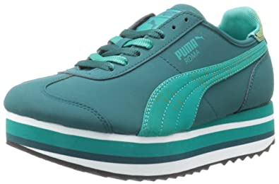 Puma Women s Roma Stacked Lace-up Fashion Sneaker  Amazon.co.uk ... ab79386482