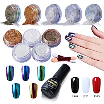 Gel Nail Polish Chrome Nail Powder Colour Changing Nail Art 5 Packs