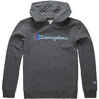 Champion Boys Hooded Sweatshirt Script Logo Heritage Collection Kids