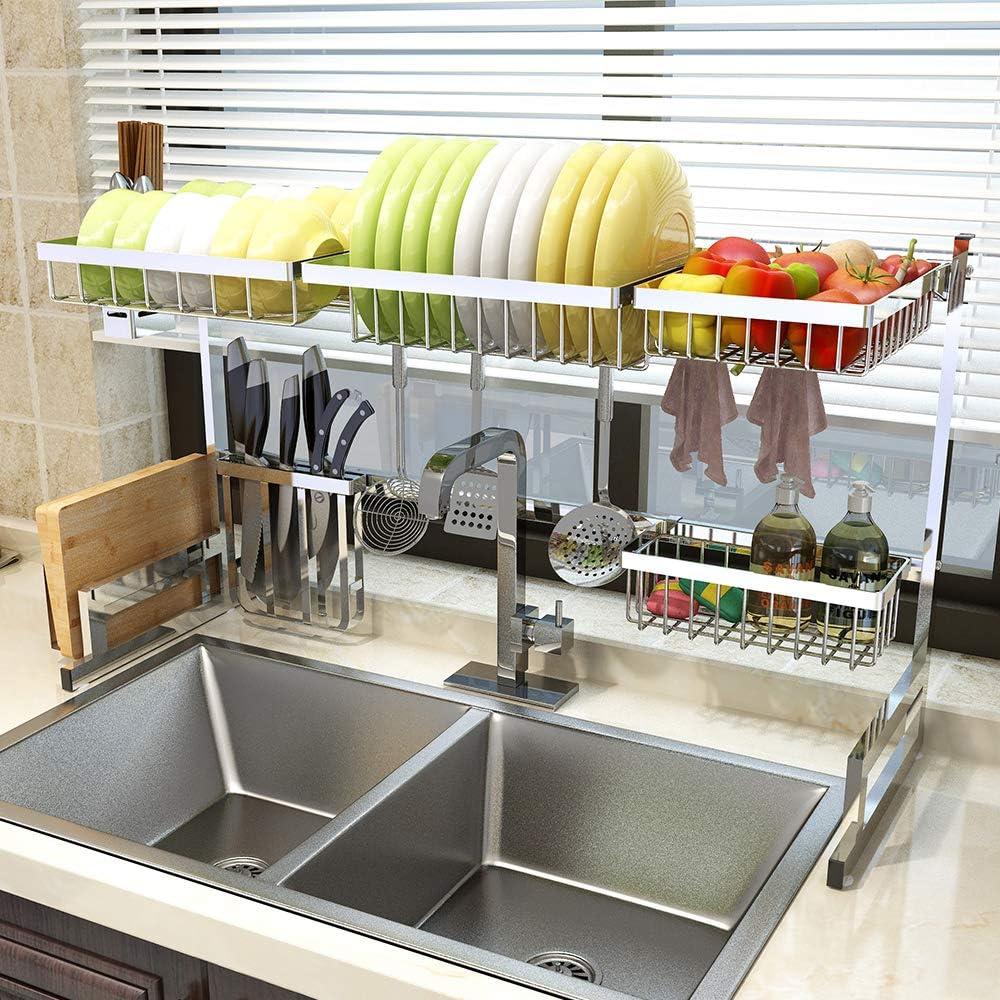 大大节省厨房空间,不锈钢餐具收纳架
