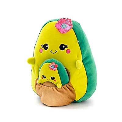 "Justice 8"" Squishmallows with Pocket Mini Squishmallow in Pouch Stuffed Animal Plush Toy (Avocado): Toys & Games"