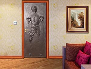 Han Solo Carbonite Door WRAP Decal Wall Sticker Mural Home Decor Star Wars D187, 200x80