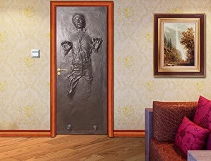 Han Solo Carbonite DOOR WRAP Decal Wall Sticker Mural Home Decor Star Wars D187 200x80 & Amazon.com: Han Solo Carbonite DOOR WRAP Decal Wall Sticker Mural ...