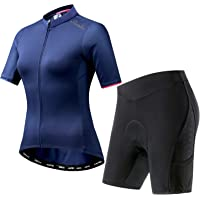 Santic Women Cycling Jersey Short Sleeve Bike Jersey Bike Jacket Full-Zip
