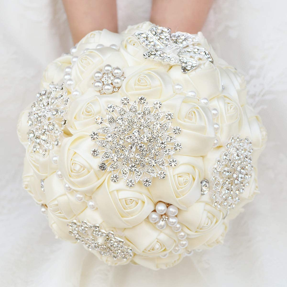 Desuness Bombing free shipping Wedding Bouquet Bride Holdi Brooch Rose Max 67% OFF