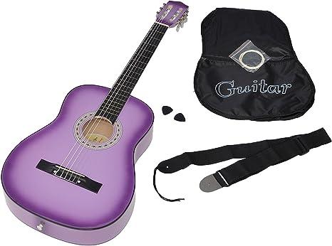 ts-ideen 5267 - Guitarra acústica clásica (incluye funda, correa ...
