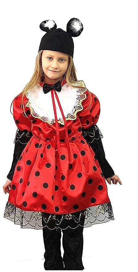 pequeños monelli Traje Minnie niña 7 8 años Vestido Minnie ...