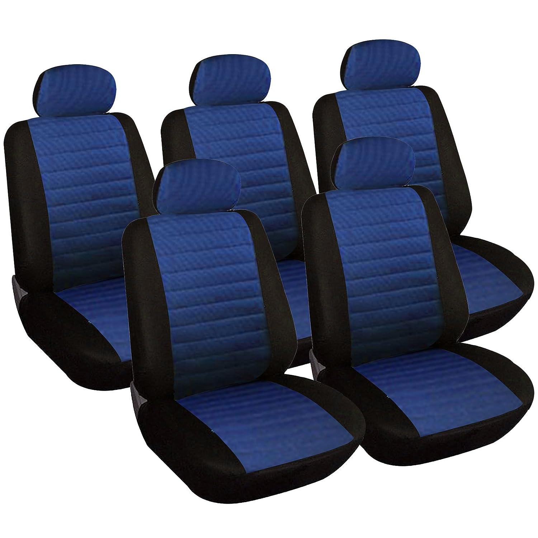 WOLTU 7231-5 Sitzbez/üge Auto Einzelsitzbezug universal Gr/ö/ße schwarz//grau 5er Set