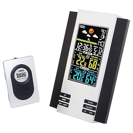 Tutoy Lcd Digital Interior Exterior Inalámbrico Tiempo Estación Reloj Calendario Termómetro Temperatura Tester