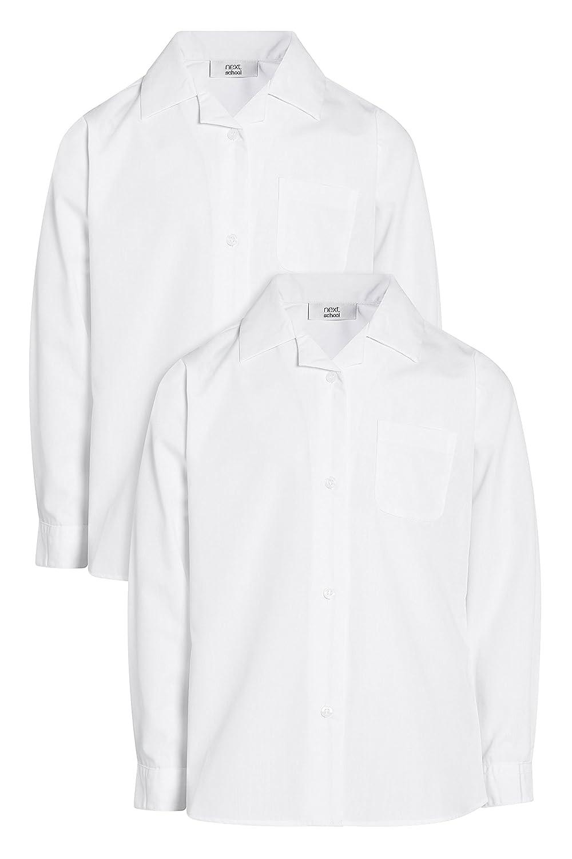 next Bambine E Ragazze Confezione da Due Camicie A Maniche Lunghe con Colletto A Rever (3-16 Anni)