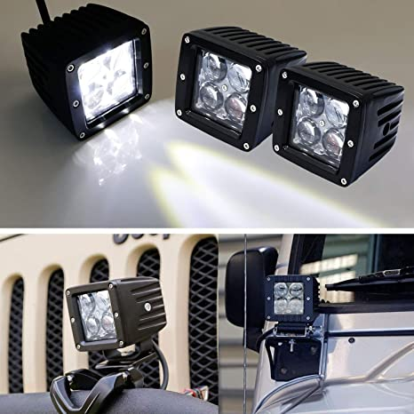 For Chevy Silverado Flush Mount Backup Reverse Rear+Front Bumper 4x Led Lights