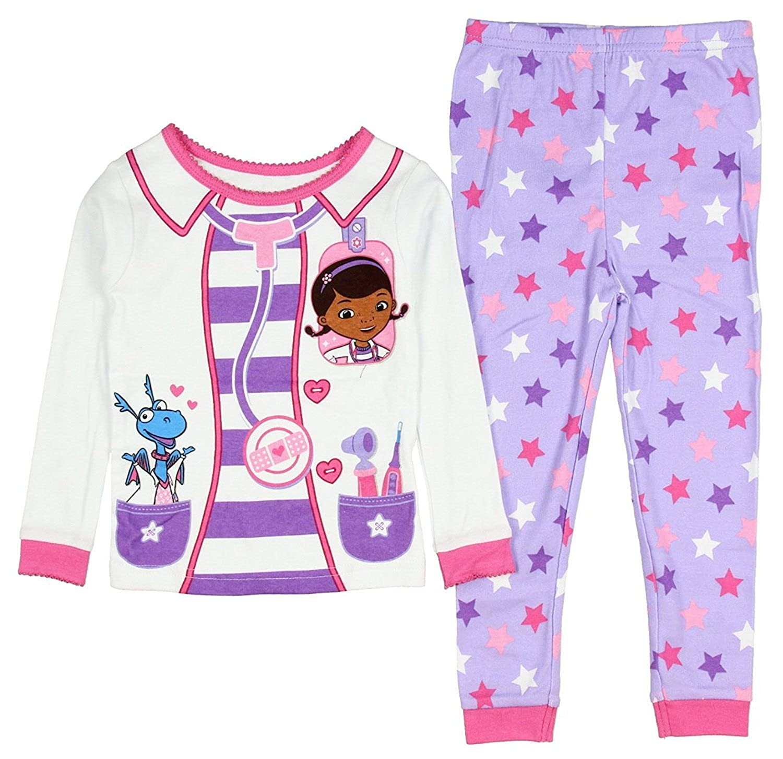 AME Sleepwear Disney Doc McStuffins Little Girls Toddler Long Sleeve Cotton Pajama Set