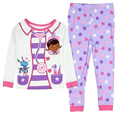 AME Sleepwear Disney Doc McStuffins Little Girls Toddler Long Sleeve Cotton Pajama  Set 01e4b5235