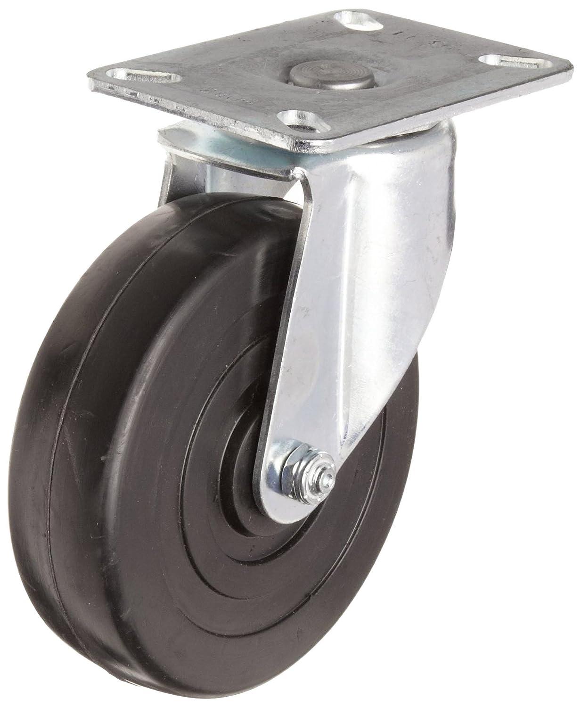 """2/""""  Soft Rubber Wheel Caster 4 Swivels"""