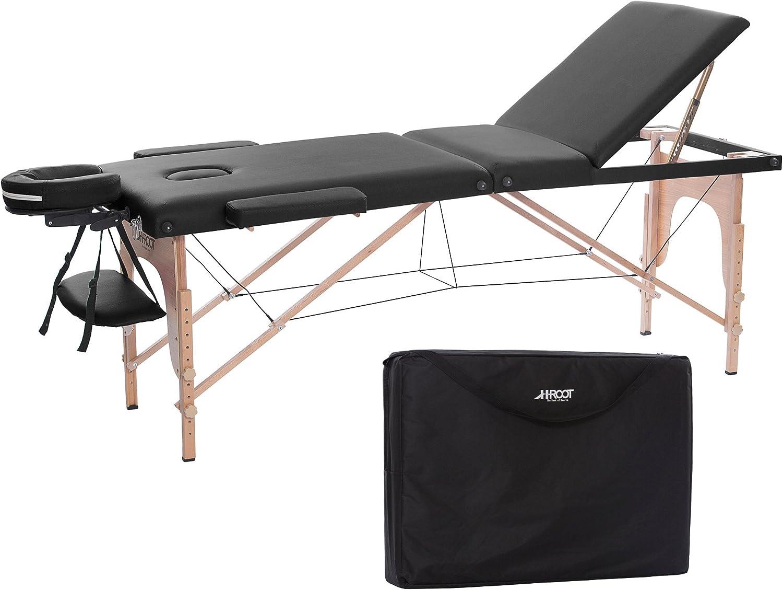 h root 3 section table de massage grande canape lit plinthe de therapie salon tatouage reiki massage suedois therapeutique 186cm x 60cm x 62 83cm