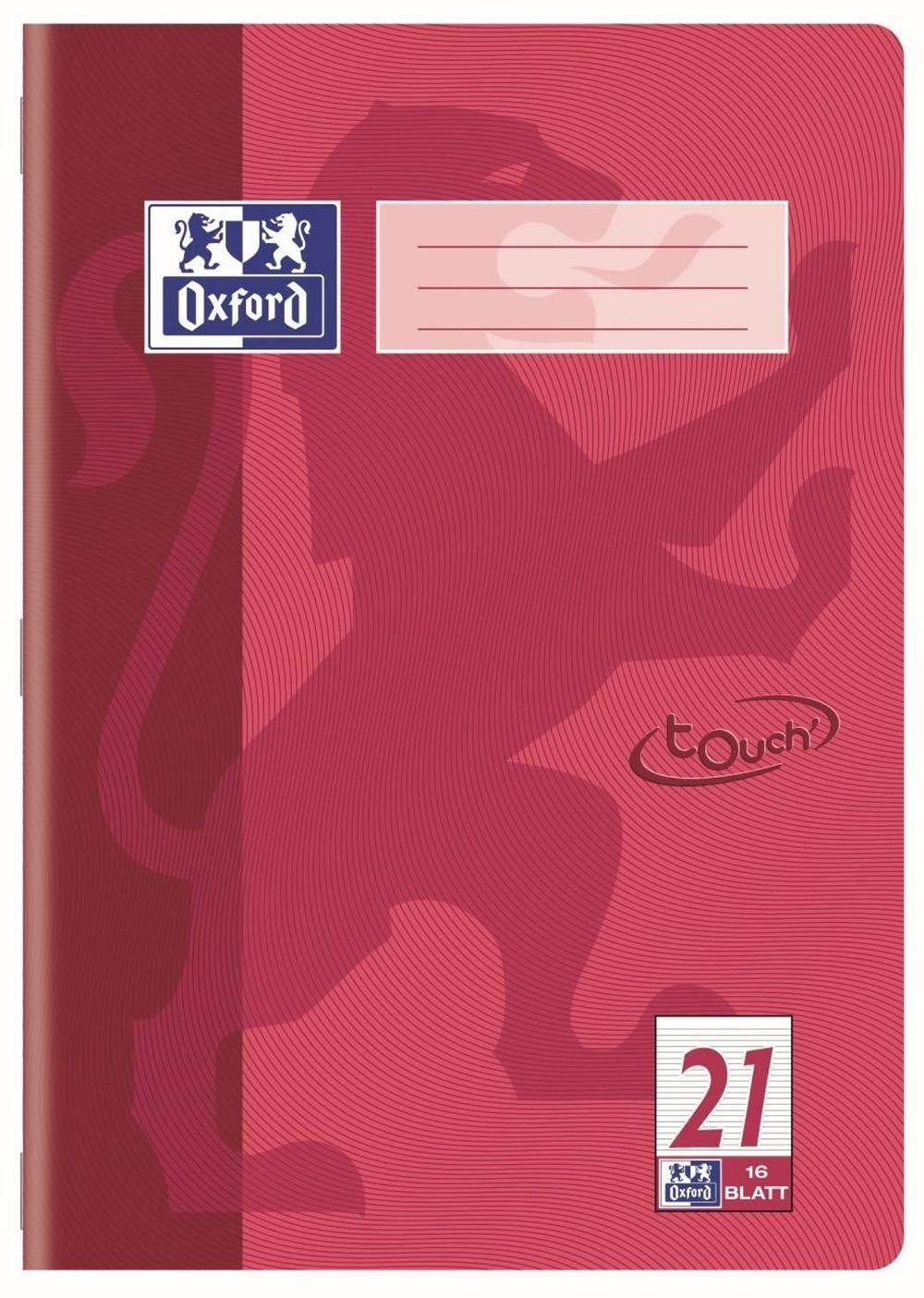 Oxford 400086469 quaderno Touch Tipo 26 15 Pezzi a quadretti con bordo flieder