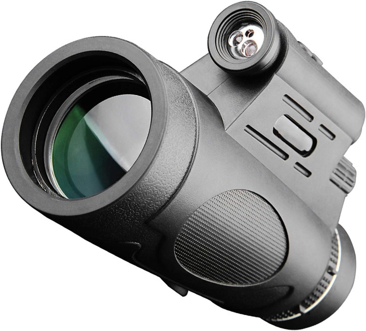 ALLWIN Telescopio Monocular 12X50,Visor Monocular HD BAK4 con Soporte para Smartphone Y Trípode para Observación del Terreno La Vida Silvestre/Observación De Aves/Turismo,Visión Diurna Nocturna Baja