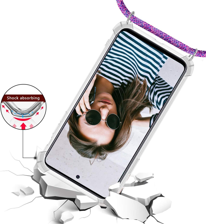 Genrics Funda con Cuerda para Xiaomi Redmi Note 9S//Note 9 Pro//Note 9 Pro MAX Carcasa M/ármol Brillante Ultrafina R/ígida PC con Correa Colgante Ajustable Collar Correa de Cuello Cadena Cord/ón Negro