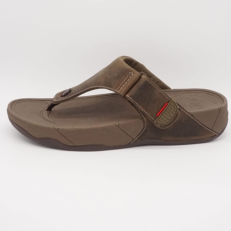 the latest cda8e 998a7 fitwear Zehentrenner Sandalen Braun, Größe:44: Amazon.de ...